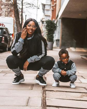 Tiwa savage and her son