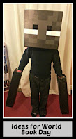Enderman costume with title text overlaid