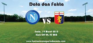 Data dan Fakta Liga Fantasia Serie A Gio 29 Napoli vs Genoa Fantasi manager Indonesia