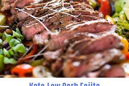 Keto,Low Carb-Fajita Salad with Steak