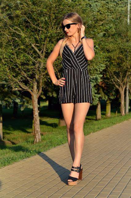 395. Black and white. Elegancki kombinezon. ♥ #zaful