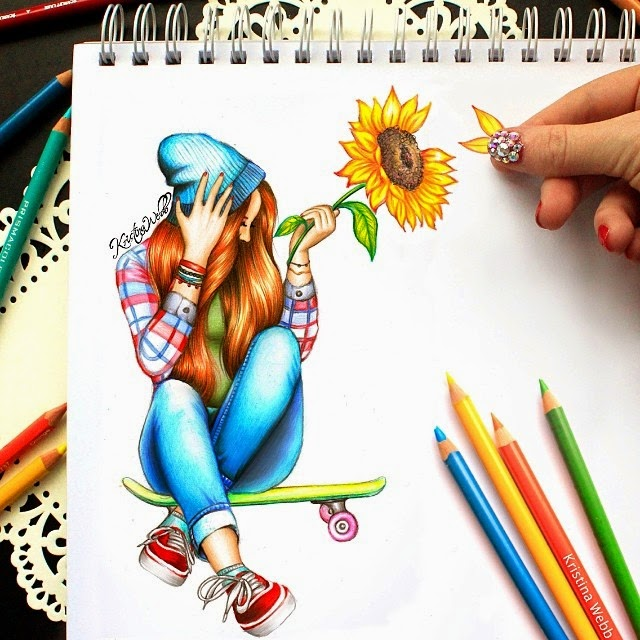 27-Sunflower-Kristina-Webb-Colour-me-Creative-Drawings-www-designstack-co