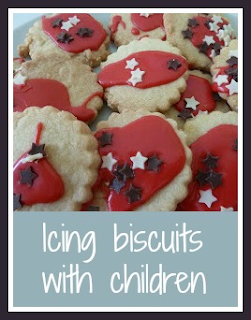 Making and icing biscuits with children