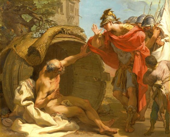 Gaetano Gandolfi, Alexander and Diogenes, 1792