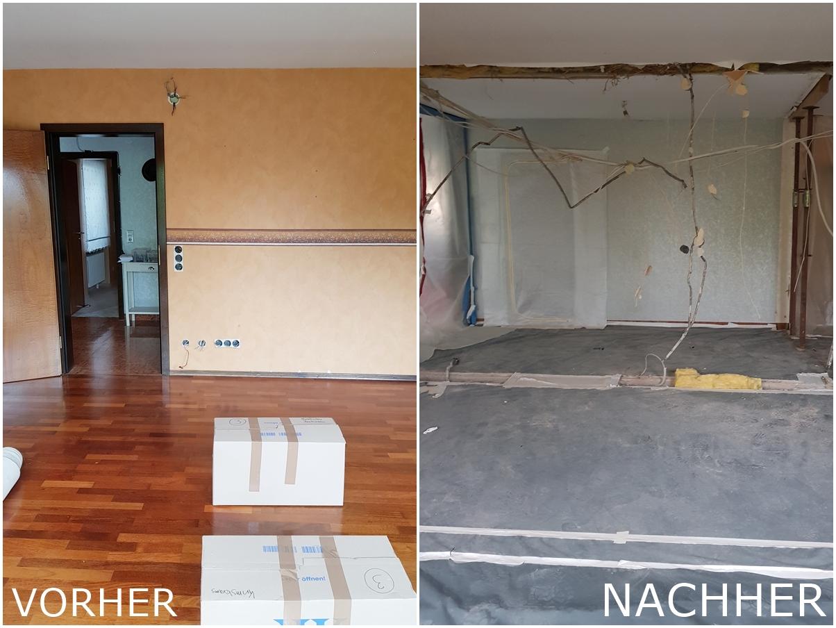 Renovierung Umbau Wohnung Vorher Nachher Waende raus