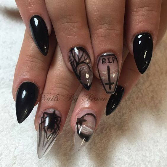 Great Gothic Nail Art Ideas! - OMG Love Beauty!