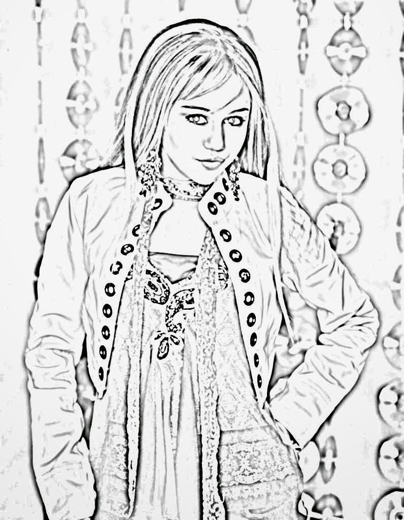 Miley Cyrus coloring.filminspector.com