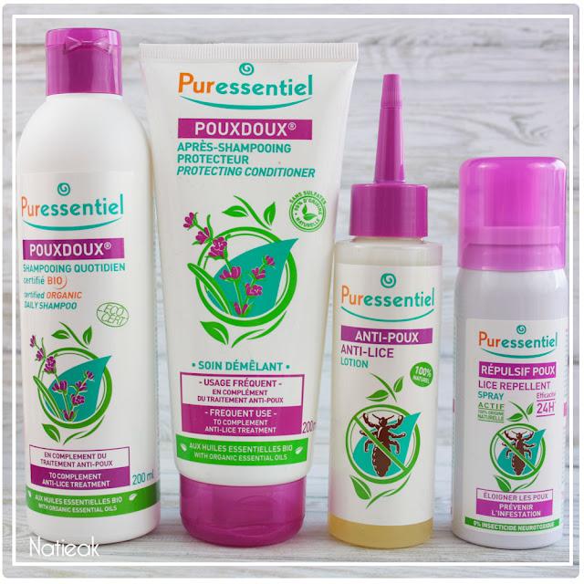 gamme anti poux de Puressentiel