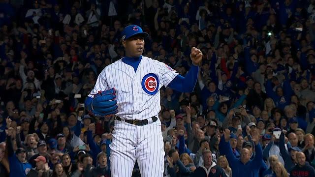 Chapman tuvo otra campaña estelar, pues registró 1.55 de efectividad con 36 rescates en 59 presentaciones por los Yankees y los campeones Cachorros.