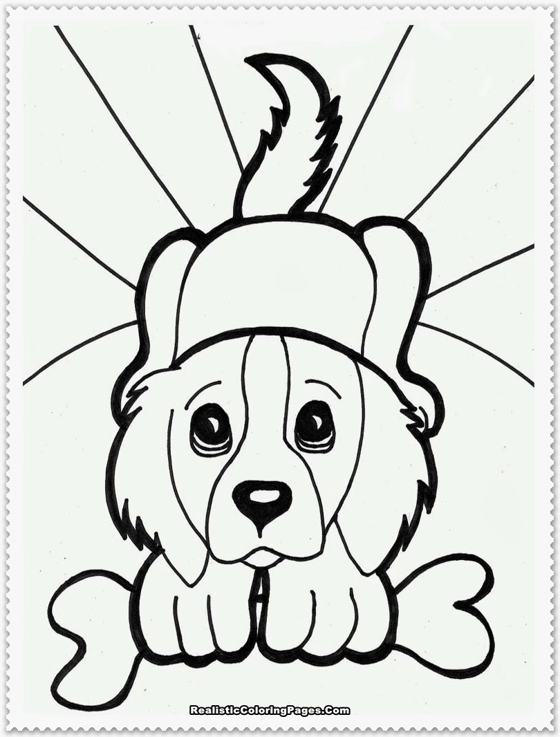 Puppy Coloring Pages Realistic