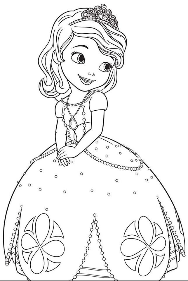 Rayito de Colores: Princesa Sofa para colorear