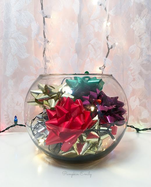 DIY Christmas Bowl Centerpiece