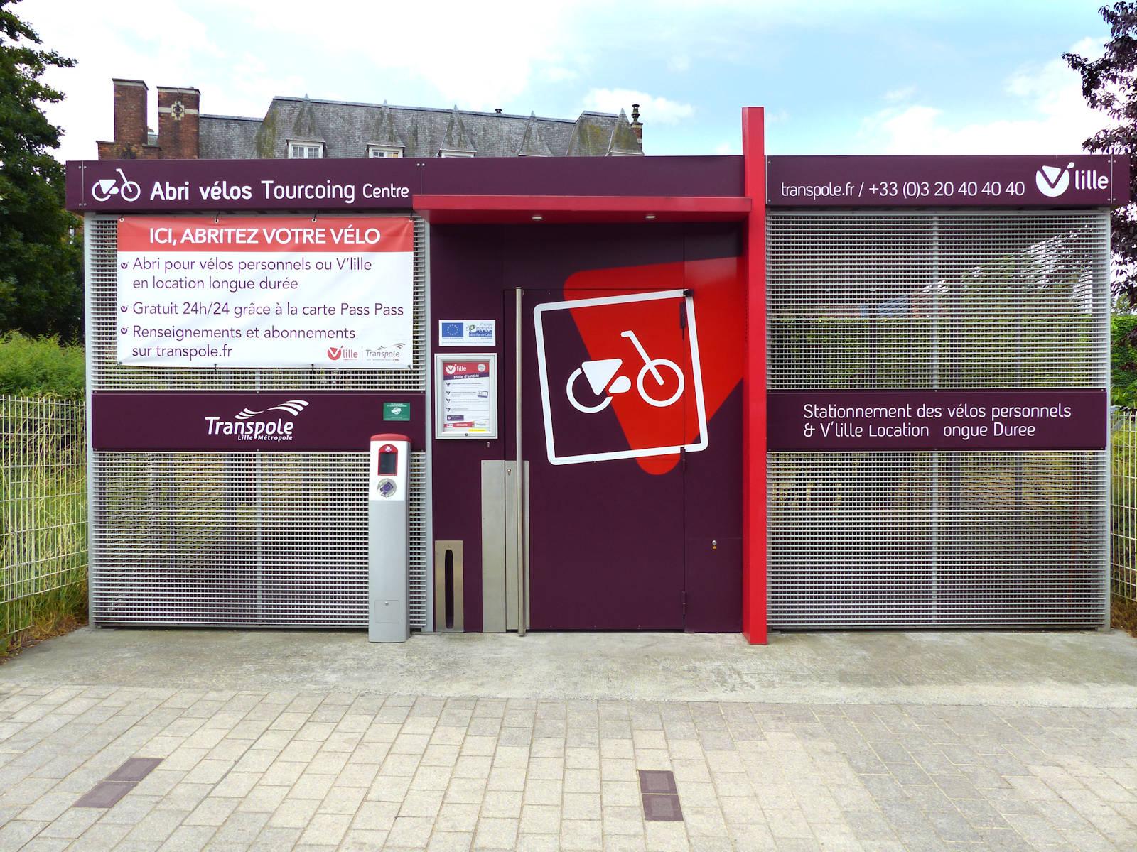 V'Lille Abri Vélos Tourcoing Centre