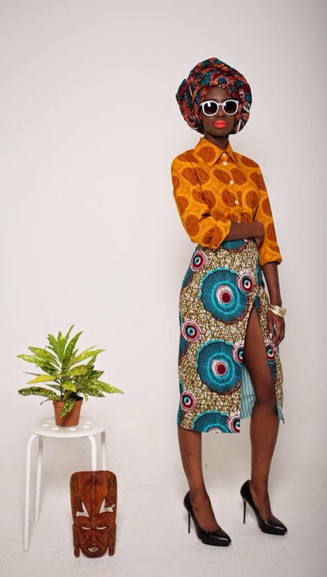 African print dress ankara dress by Designer Mazel John