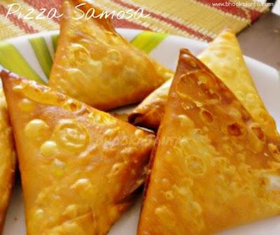 Pizza Samosa   Bhooka Janta