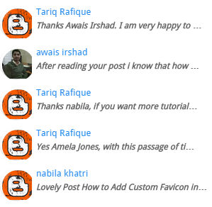 Add Recent Comments Gadget with Avatar