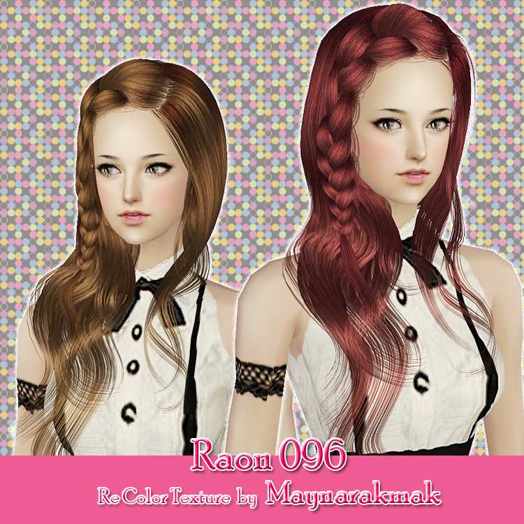 Sims 2 Hairstyles: The Sims 2 Finds: Raon Female Hair 096