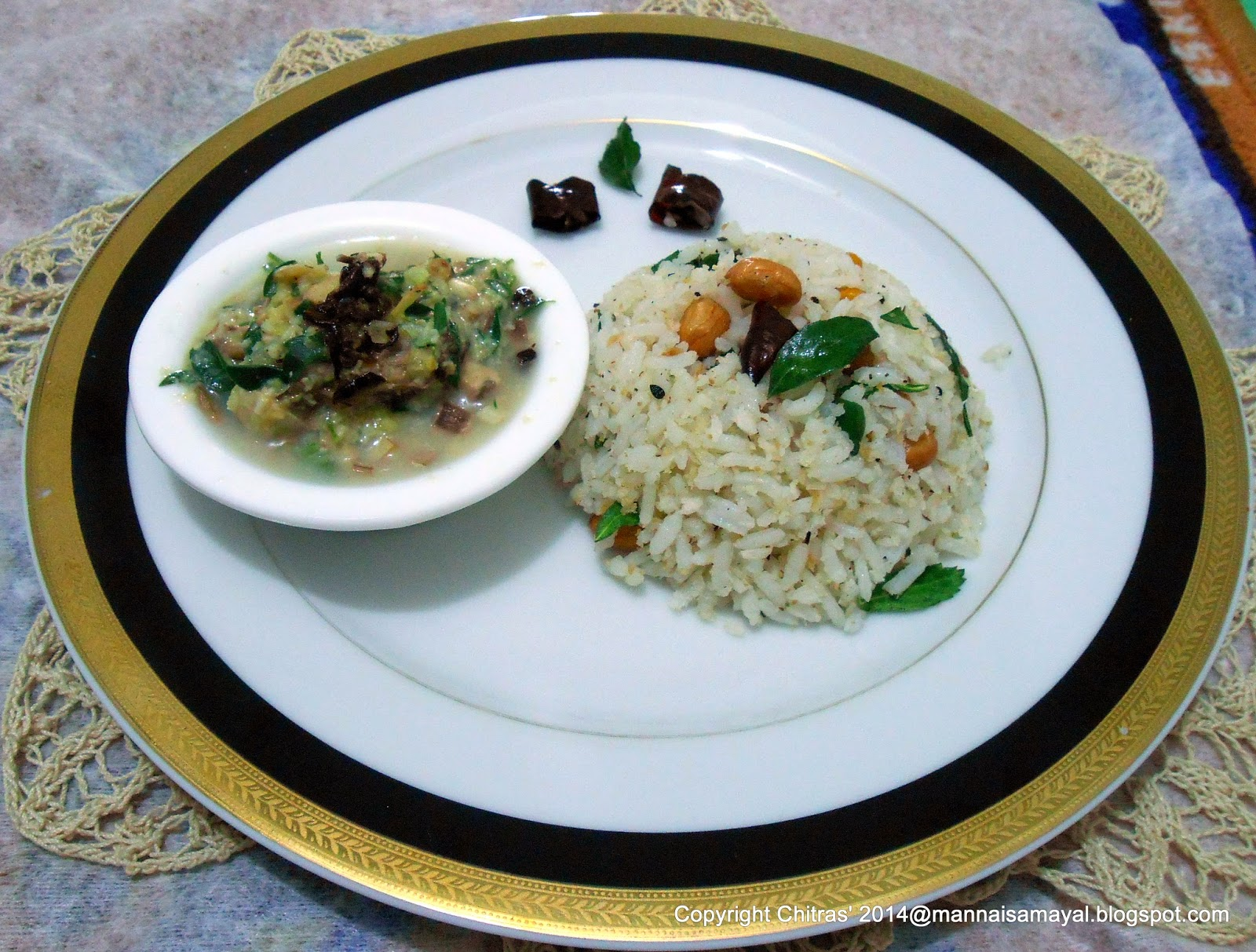Thengai sadham [ coconut rice ]