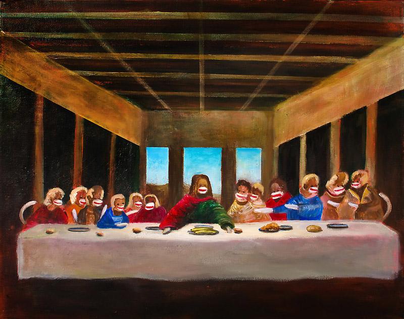 The Last Dinner (Sock Monkeys) by Randy Burns
