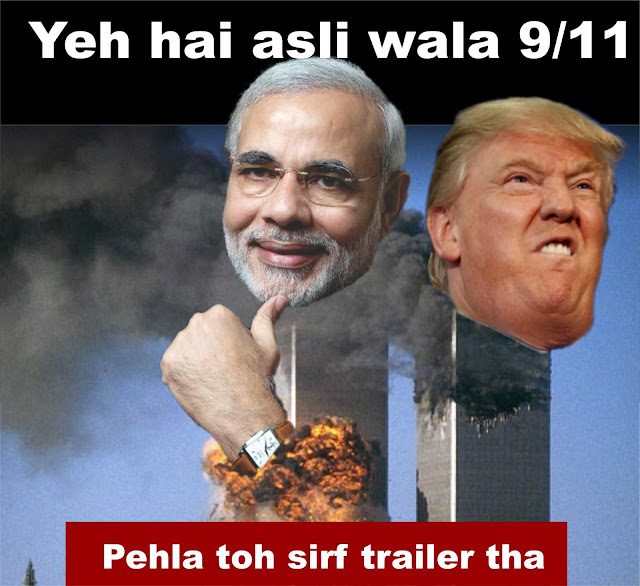 Modi and Trump are the twin towers that made 9/11 a historic day again