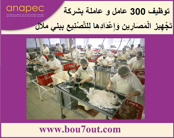 توظيف 300 عامل و عاملة بشركة