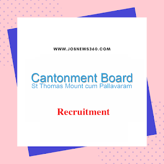 Cantonment Board Chennai Recruitment 2019 for System Administrator post