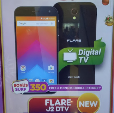 Cherry Mobile Flare J2 DTV; Quad Core with Digital TV for Php2,499