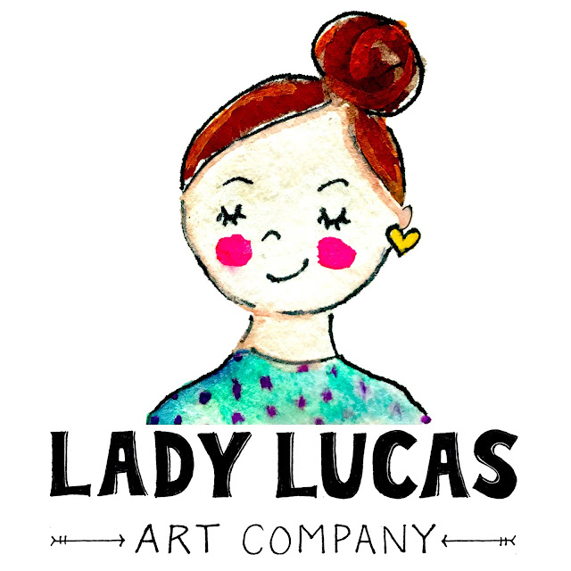 New Logo New Year for the Lady Lucas Art Company | Linzer Lane Blog