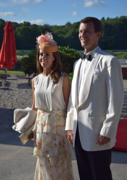 Prince Joachim and Princess Marie attended a gala dinner held by Danish-French Chamber of Commerce at the Copenhagen Hippodrome