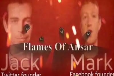Foto kedua pendiri perusahaan besar Facebook dan Twitter menjadi target tembakan dalam video mereka