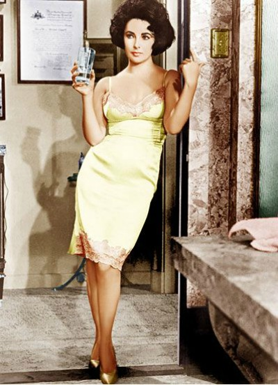 "Elizabeth Taylor in Scene from 1958's ""Cat on a Hot Tin Roof"""