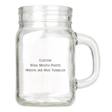 Custom Wide Mouth Mason Jar Mug Tumbler