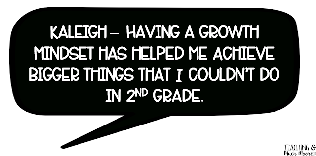 growth mindset kid quote