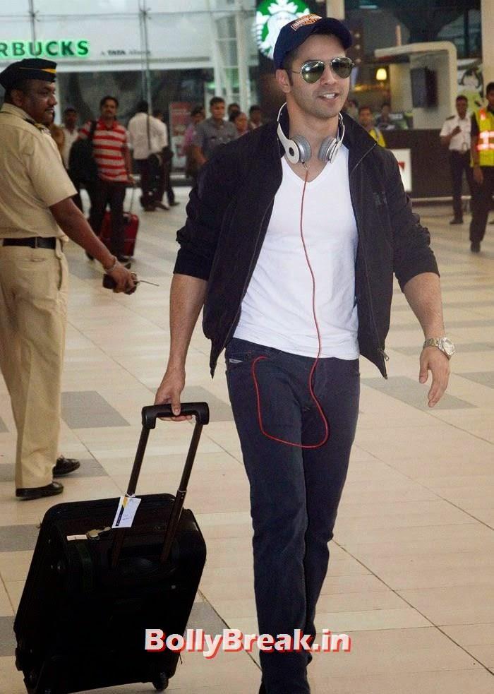 Varun Dhawan, Bollywood Celebs at Airport to Attend Arpita Khan's Wedding