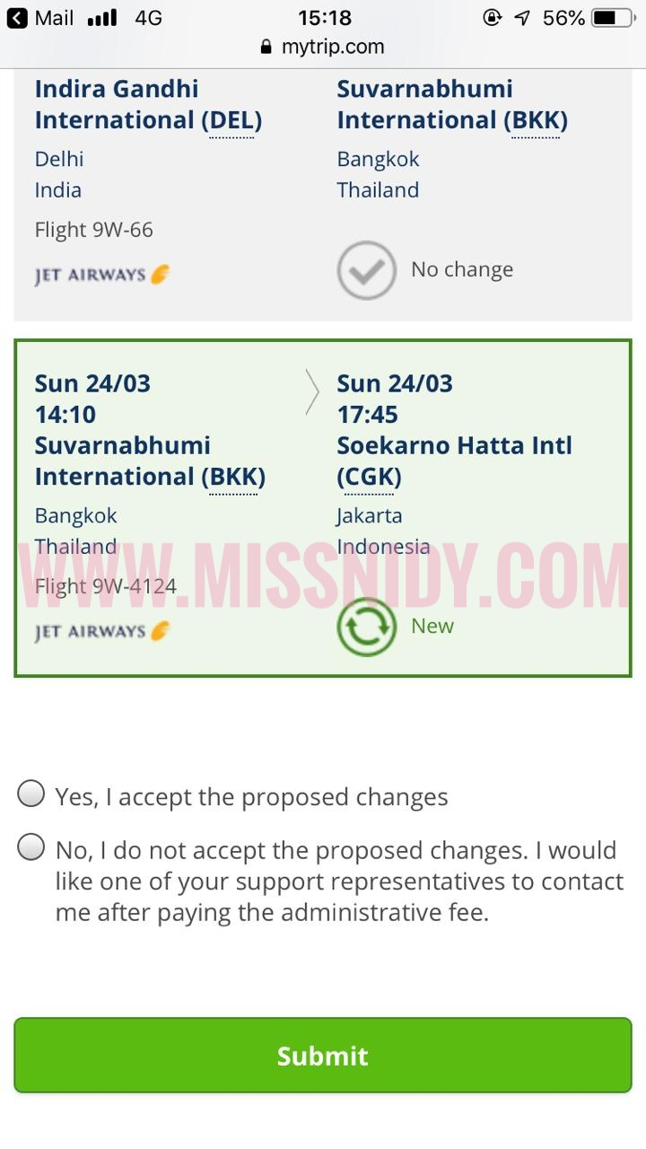 drama tiket jet airways ke india