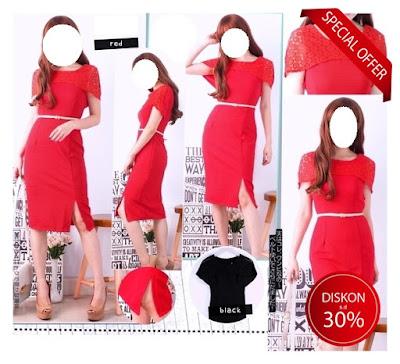 mini dress bodycon import baju impor korea