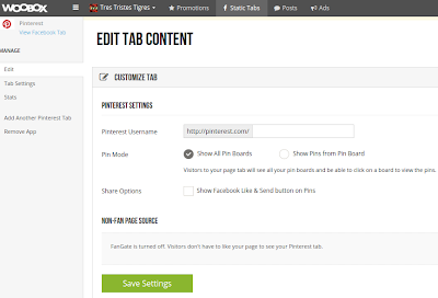 Edit tab content woobox