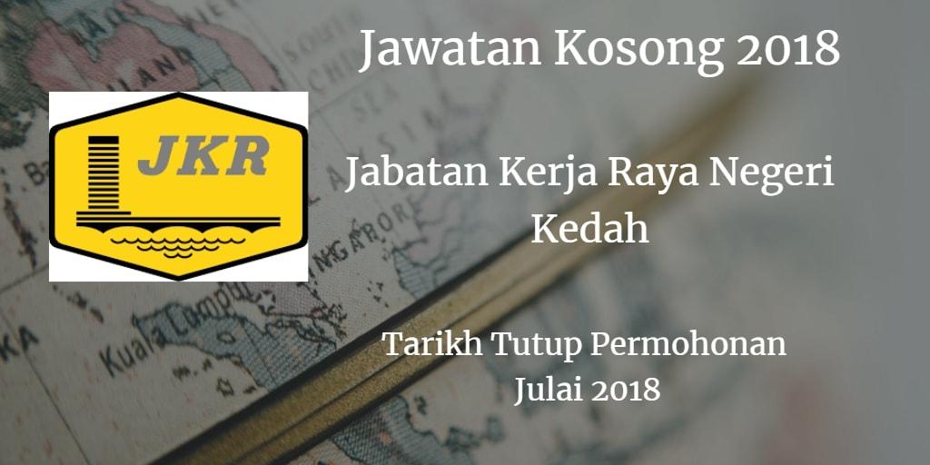 Jawatan Kosong Jabatan Kerja Raya Negeri Kedah Julai 2018