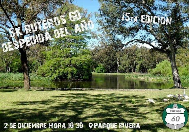 5k Despedida del año de Ruteros 60 (15ª Ed., parque Rivera, Montevideo, 02/dic/2018)