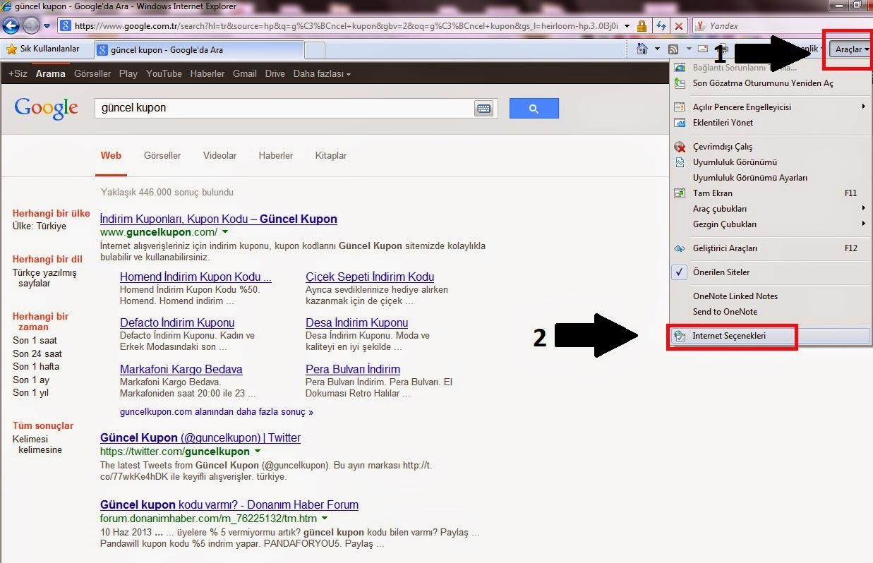 Internet Explorer 11 Geçmiş Silme Nasıl Yapılır?