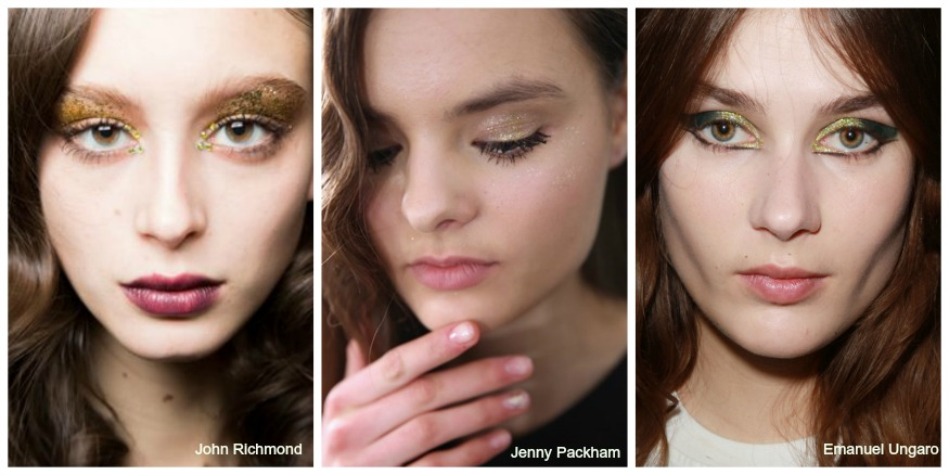 Fall 16 Makeup trends Glitter