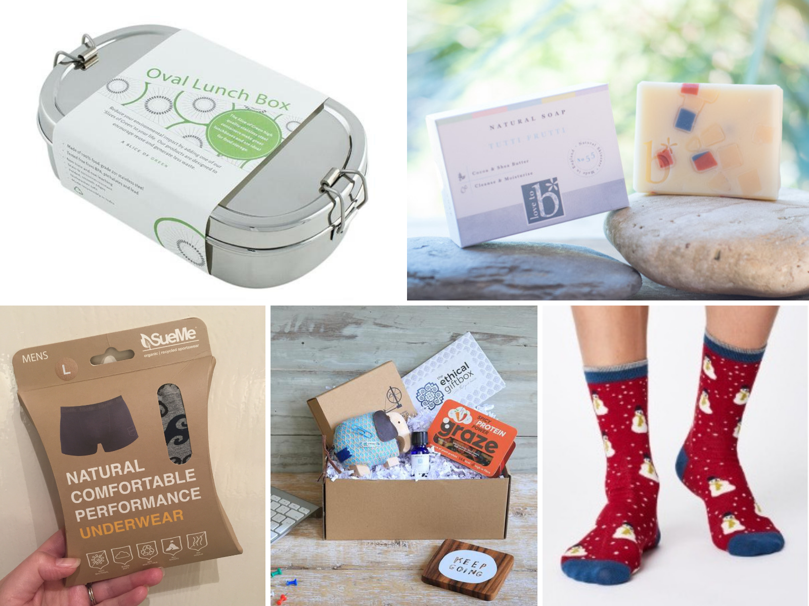 Christmas Gift Guide, SueMe, The Ethical Gift Box, Love to B, Thought Clothing, Slice of Green