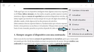Oir TTS android español latino