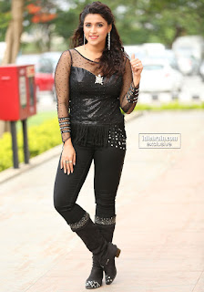 Mannara Chopra in Spicy Tight black Leggings and Transparent Top Spicy Exlusive Pics