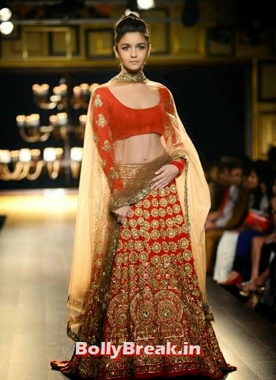 , Alia Bhatt in Manish Malhotra Creation - ICW 2014