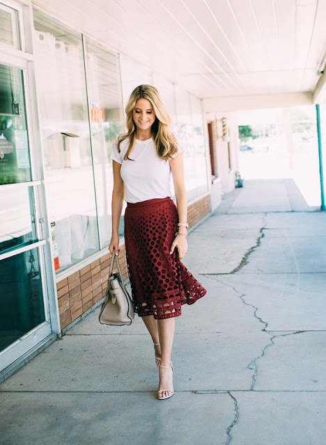 burgundy-eyelet-skirt