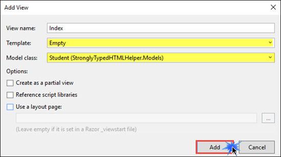 Working With Built-in HTML Helper Classes in ASP NET MVC - DZone Web Dev