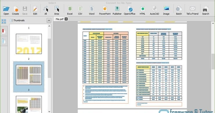 logiciel gratuit de conversion fichier pdf en excel