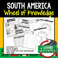South America Activity, World Geography Activity, World Geography Interactive Notebook, World Geography Wheel of Knowledge (Interactive Notebook)