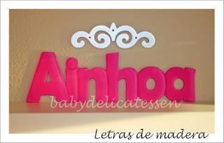 letras de madera infantiles para pared Ainhoa  babydelicatessen